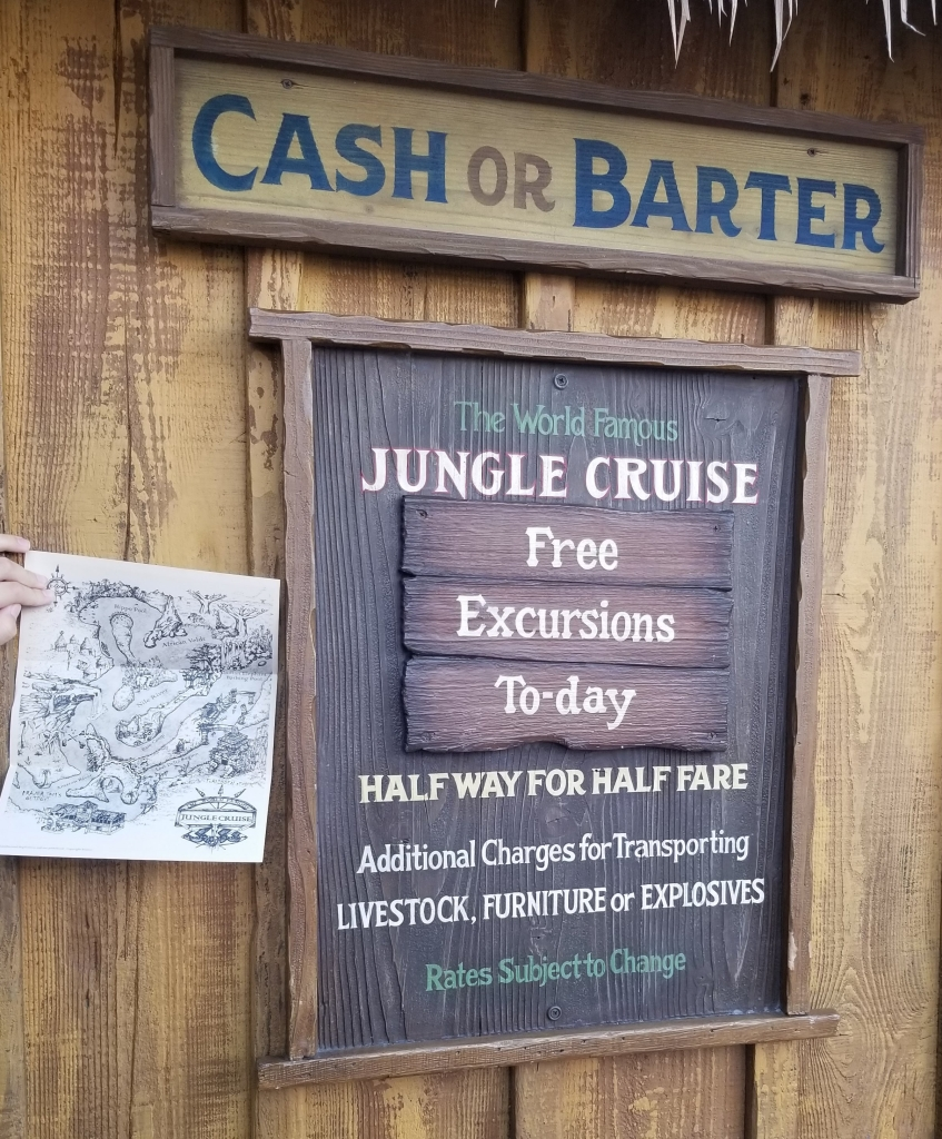 Picture of a Jungle Cruise Map taken outside of the ride